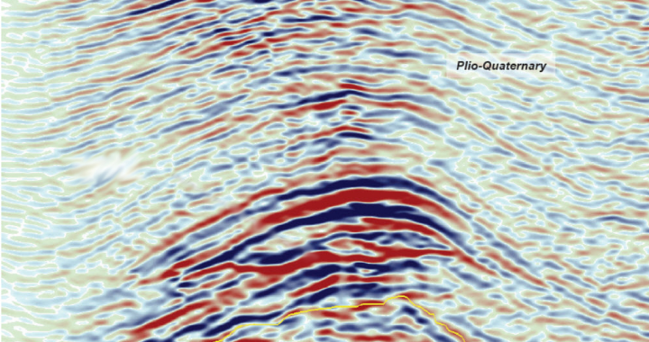 Seismic Image with Hydrocarbon Indicator Interpretation