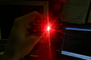 Laser Diffraction CC-BY-SA Nick Stenning